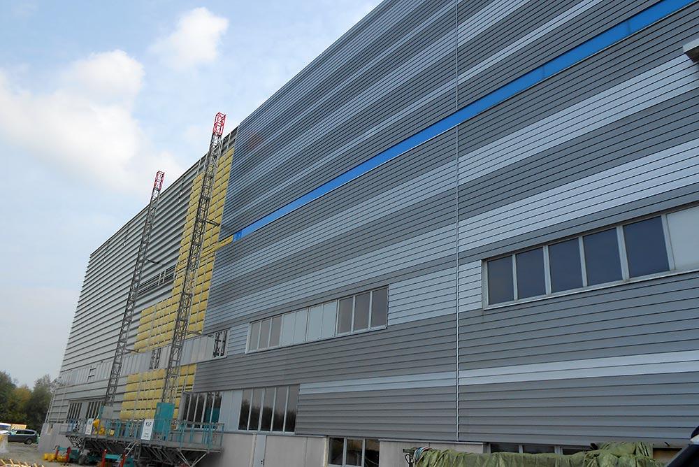 Fassade, Industriebau Enns