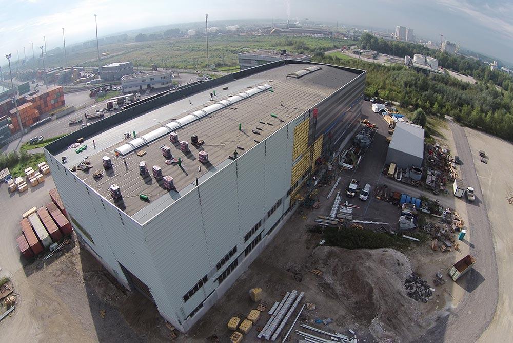 Flachdach, Industriebau Enns
