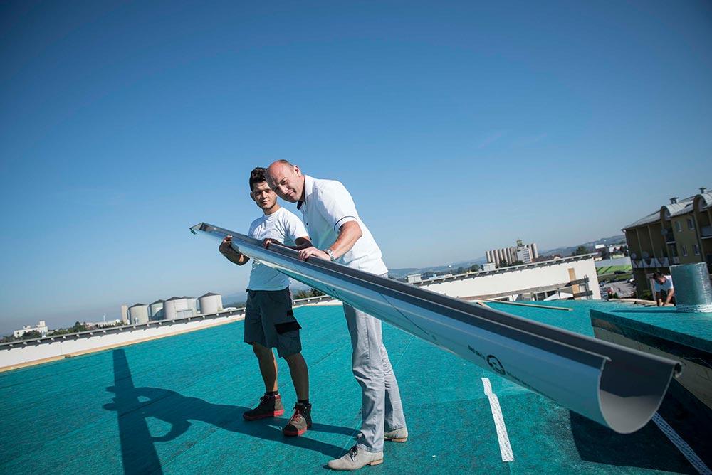 Qualitätskontrolle am Dach